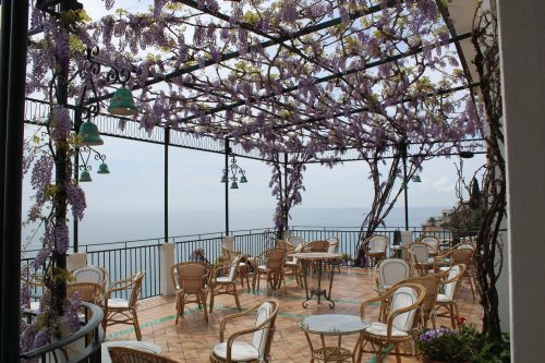 Restaurante do hotel Santa Caterina em Amalfi