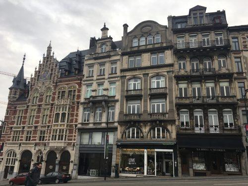 Arquitetura dos prédios belgas em art nouveau