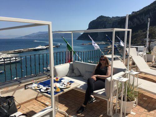 Terraço do hotel Relais Maresca em Capri