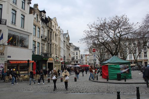 Ruas do centro de Bruxelas