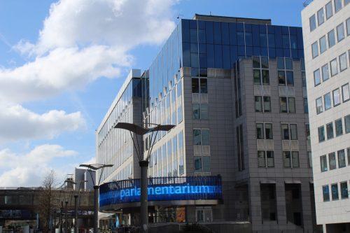 Frente do prédio do Parlamentarium em Bruxelas