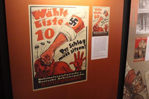 Exposição sobre a propaganda nazista no Parlamentarium