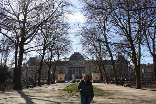 Brussels Parc em um dia de inverno