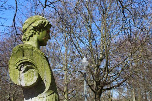 Estátua no Brussels Parc em Bruxelas