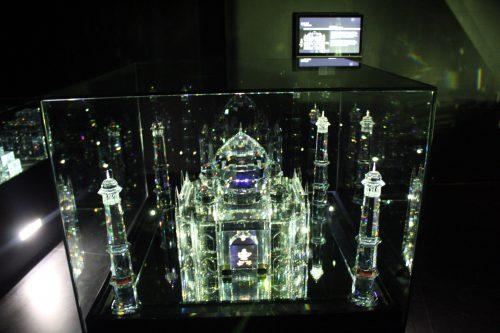 Escultura do Taj Mahal esculpida em cristal