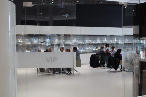Espaço VIP dentro da loja do Swarovski Worlds