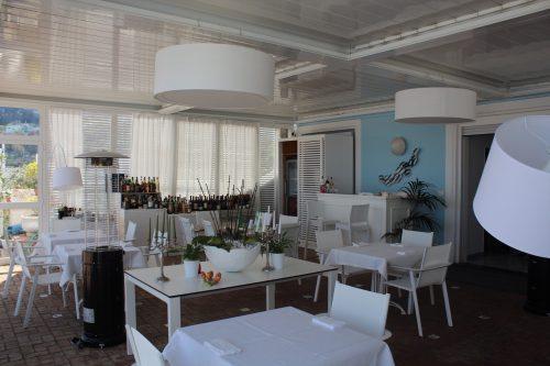Restaurante do Relais Maresca em Capri