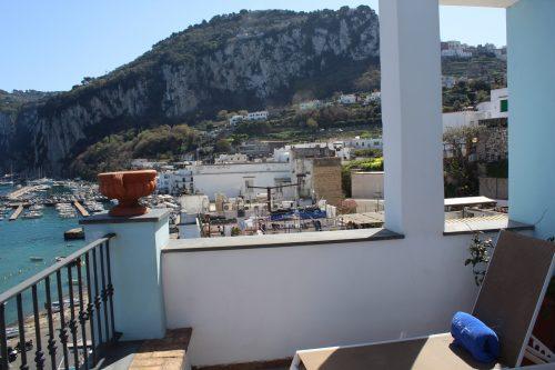 Varanda privativa do quarto no hotel Relais Maresca