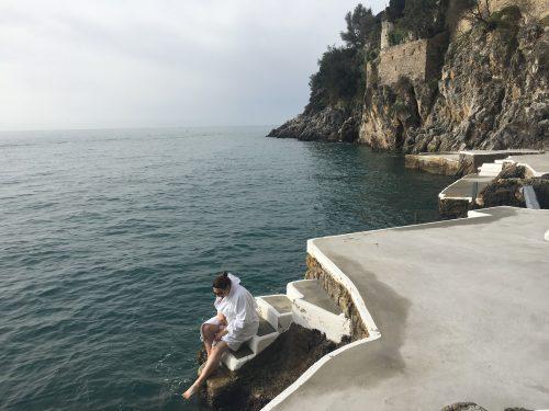 contato com o Mediterrâneo no hotel Santa Caterina em Amalfi