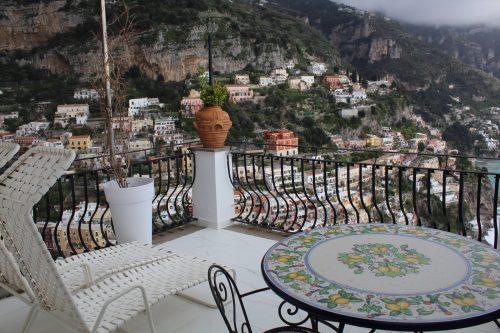 Vista de Positano do meu quarto no Villa Franca Positano
