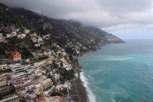 Vista de Positano do hotel Villa Franca