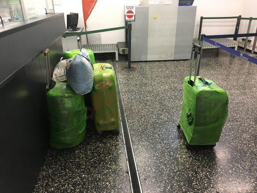 Depósito de malas do aeroporto de Malpensa