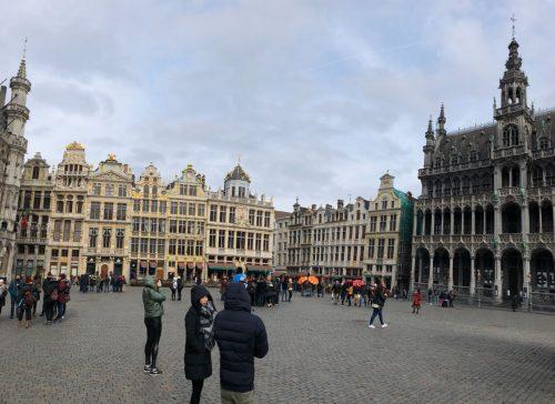 Centro da praça principal de Bruxelas