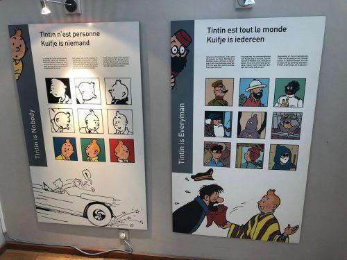Personagens do desenho Tintin no Comics Art Museum