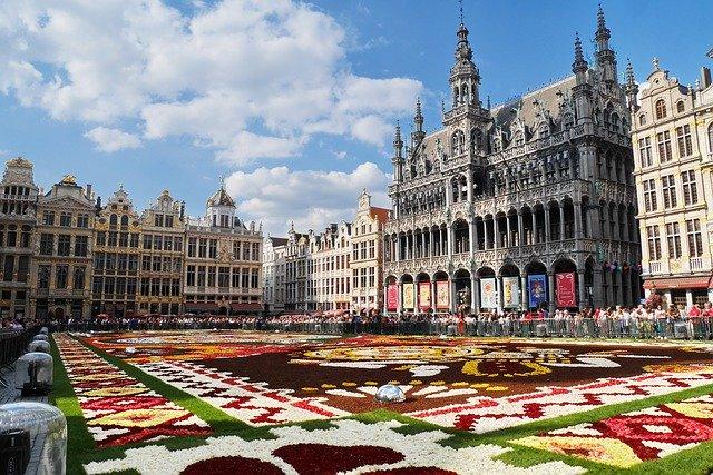 Tapete de flores na Grand Place
