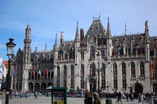 Fachada do Waterhall em Bruges