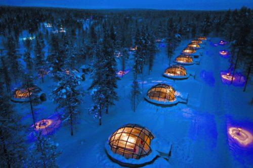Iglus de vidro no Kakslauttanen Arctic Resort