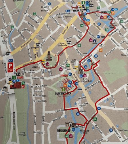 Mapa turístico de Bruges