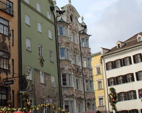 Arquitetura do Heibling Haus em Innsbruck