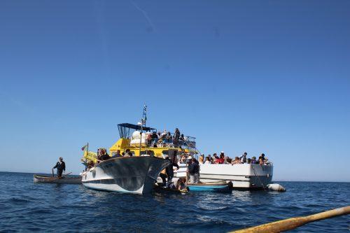 Barcos no mar Mediterrâneo