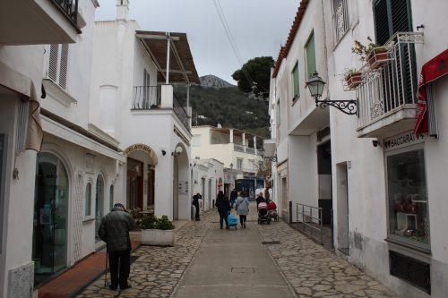 Rua comercial de Anacapri