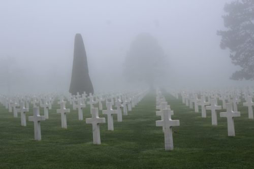 Cemitério de americanos, na Normandia