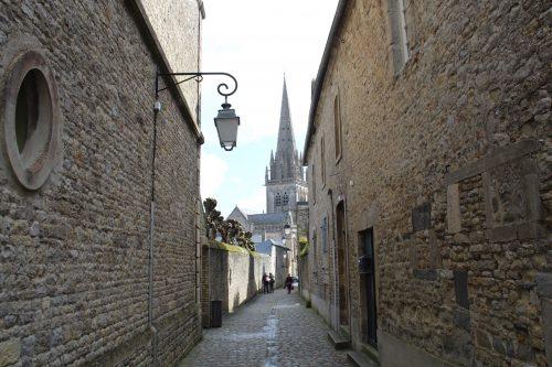 Casas de pedras e arquitetura medieval na Normandia