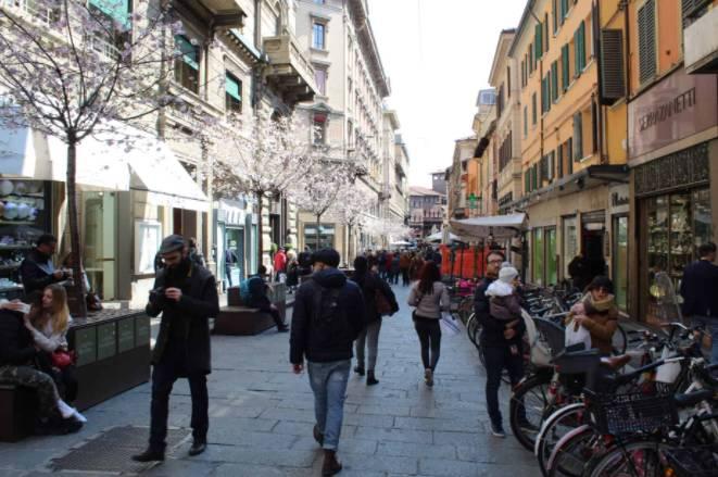 Centro da cidade de Bolonha