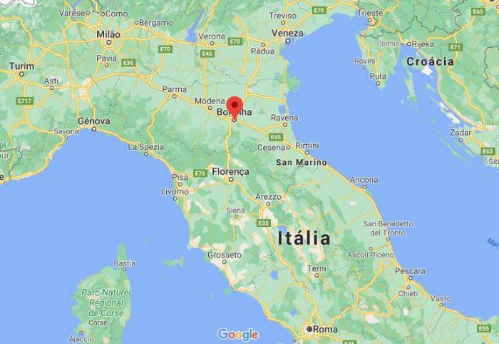 Mapa de Bolonha