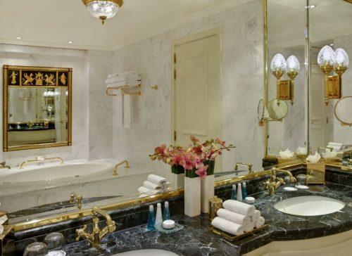 Banheiro do Steigenberger Wiltcher's em Bruxelas