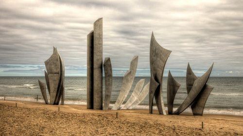 Monumento ao Dia D, na Praia de Omaha