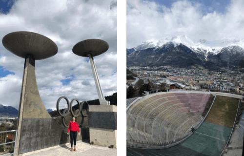 Olimpíadas e pista de ski em Innsbruck