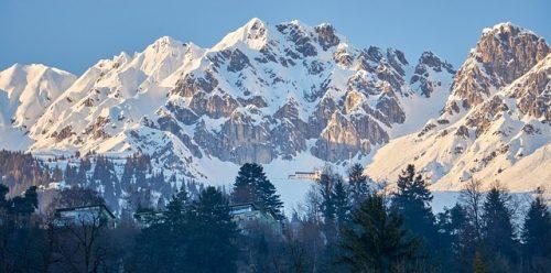 Alpes da Áustria no inverno