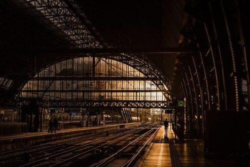 Estação de trem na Europa