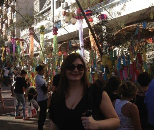 Decoração do bairro Liberdade, em São Paulo