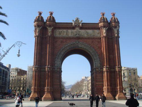 Arco no Parc de Barcelona