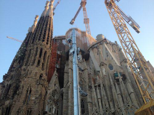 Sagrada Família em construção em Barcelona