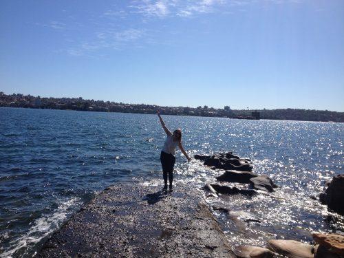Turista no Mar da Tasmânia