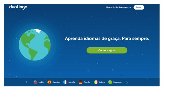Site para aprender idiomas sem custo