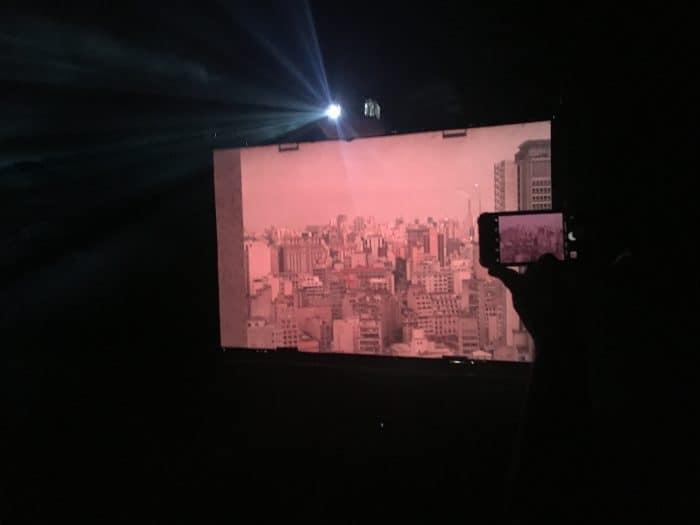 Projeção e vista urbana em São Paulo