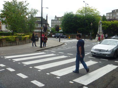 Movimento em rua de Londres
