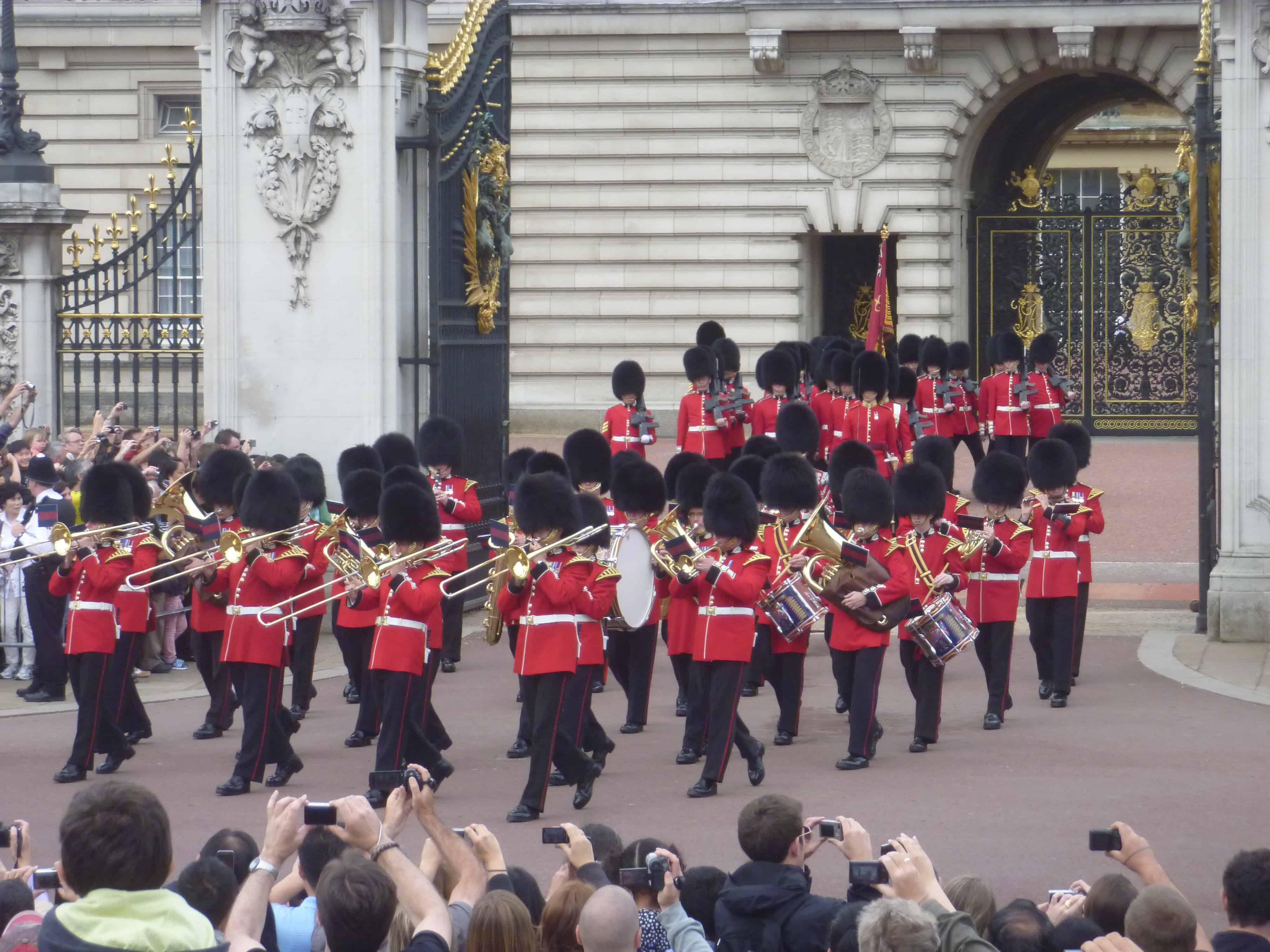 Troca da Guarda Real, em Londres