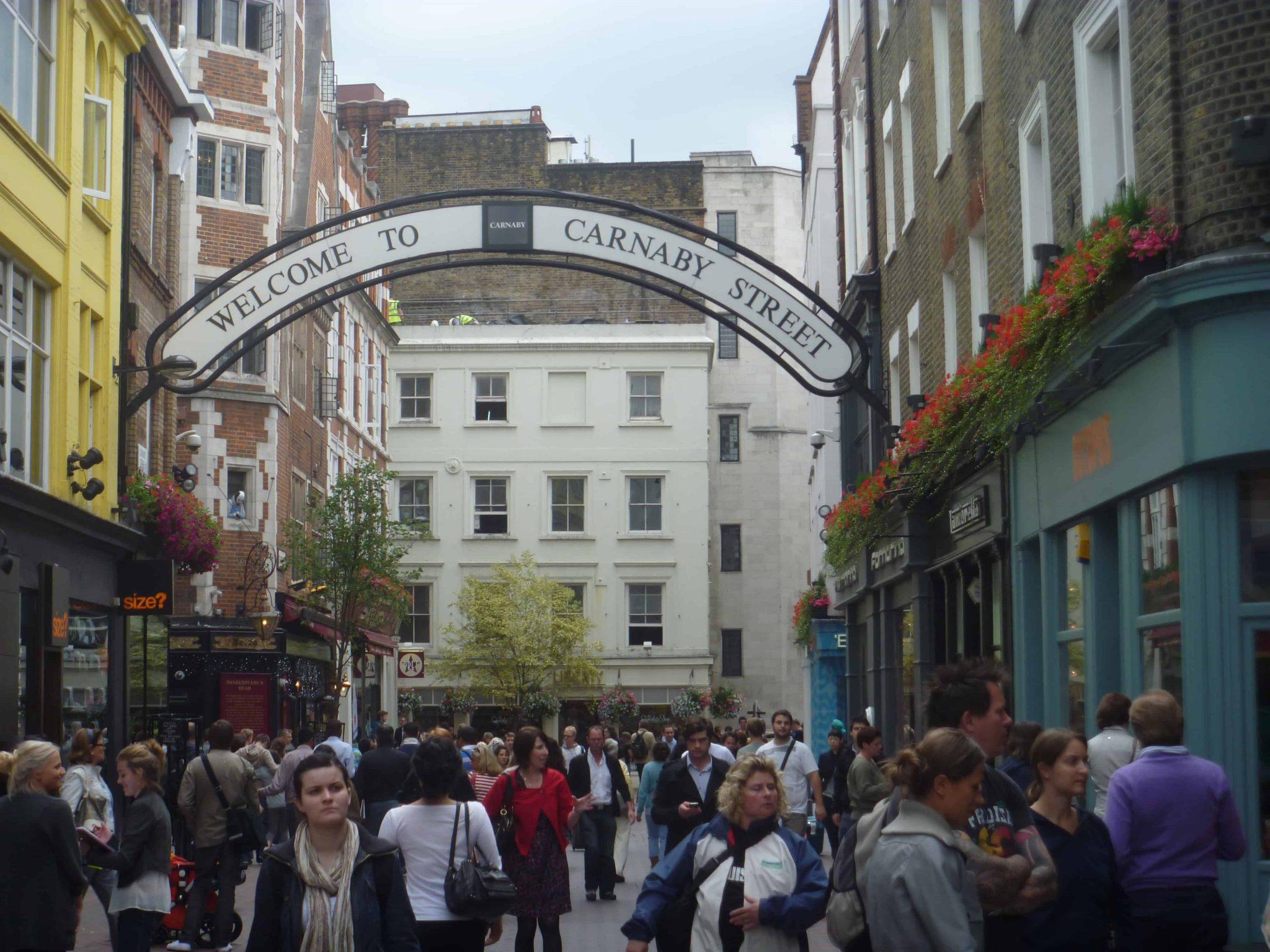 Carnaby Street, em Londres