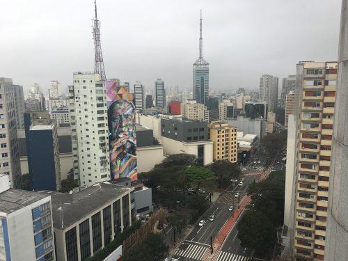 prédios e a arte de rua de São Paulo