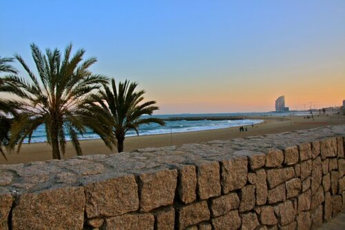praia em barcelona