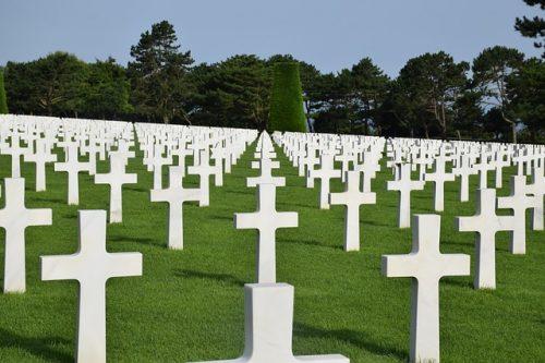 Cemitério na Normandia