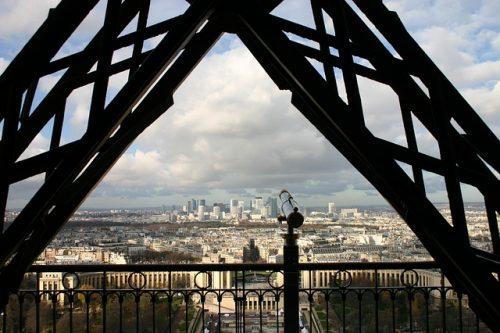 Mirante da Torre Eiffel e Paris ao fundo