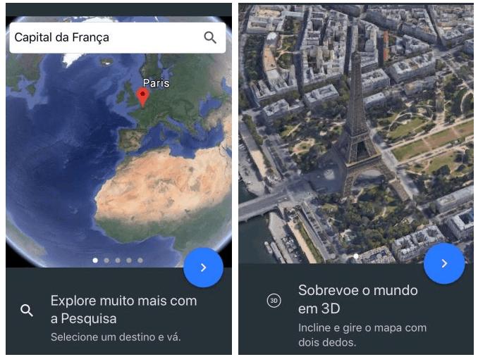 Apresentação e design do Google Earth