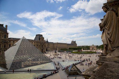 Vista panorâmica do Museu do Louvre