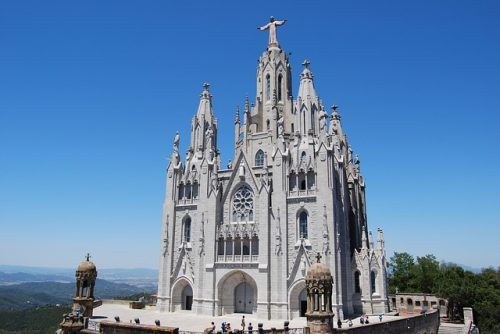 Arquitetura da Sagrat Cor em Barcelona